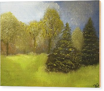 Wood Print featuring the painting Quietude by Elizabeth Coats