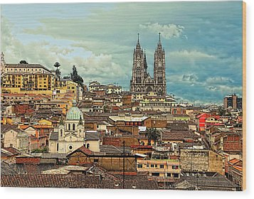 Quito Cathedral And Sorroundings Wood Print
