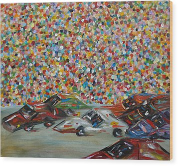 Race Day Wood Print by Judith Rhue