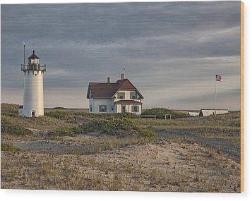 Race Point Lighthouse Wood Print by Nicholas Palmieri
