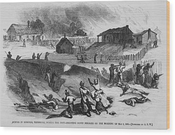 Race Riot In Memphis, Tennessee, May 2 Wood Print by Everett