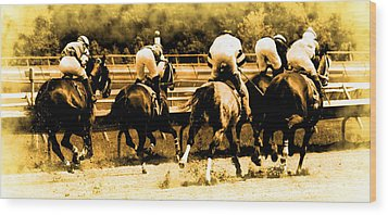 Wood Print featuring the photograph Race To The Finish Line by Alice Gipson