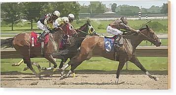 Wood Print featuring the photograph Racetrack Views by Alice Gipson