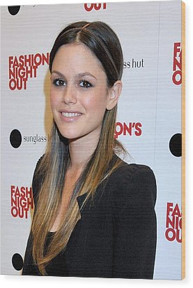 Rachel Bilson At A Public Appearance Wood Print by Everett