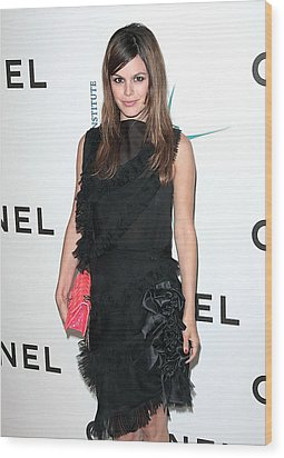 Rachel Bilson Wearing Chanel Wood Print by Everett
