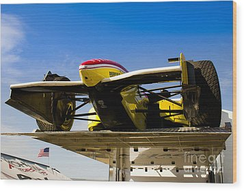 Racing Car Nose Wood Print by Darcy Michaelchuk