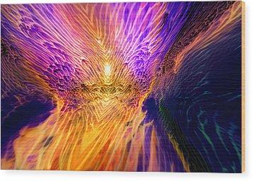 Radiant Flow Wood Print by Jason Fish