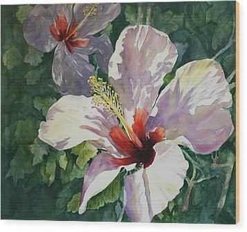 Radiant Light - Hibiscus Wood Print