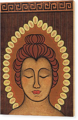 Wood Print featuring the painting Radiant Peace by Gloria Rothrock