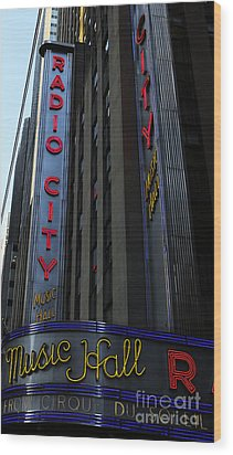 Radio City Music Hall Cirque Du Soleil Wood Print by Lee Dos Santos