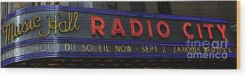 Radio City Music Hall Cirque Du Soleil Zarkana II Wood Print by Lee Dos Santos
