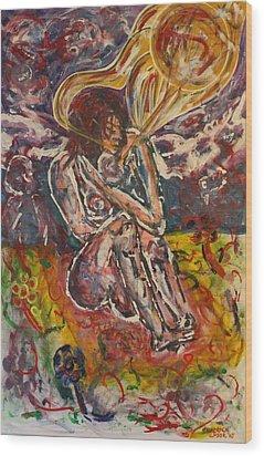 Rage Against Abortion Wood Print by Shadrach Ensor