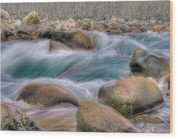 Raging Waters Wood Print by Naman Imagery