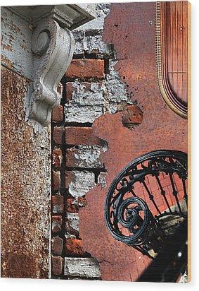 Rail Of History Wood Print