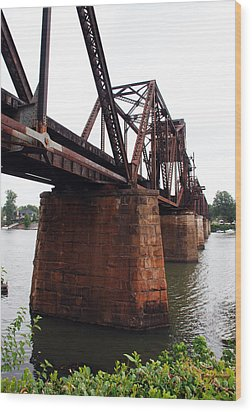 Wood Print featuring the photograph Railroad Bridge 1 by Kay Lovingood