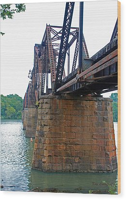 Wood Print featuring the photograph Railroad Bridge 2 by Kay Lovingood