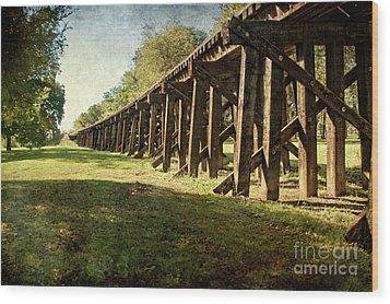 Railroad Bridge Wood Print by Tamyra Ayles