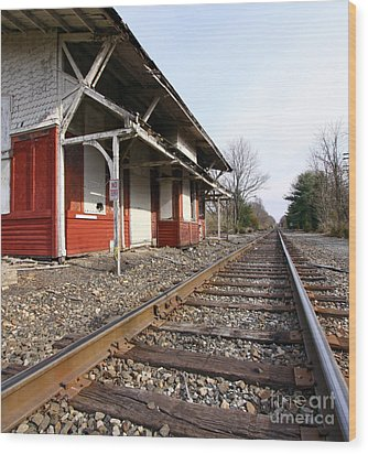 Wood Print featuring the photograph Railroad by Denise Pohl