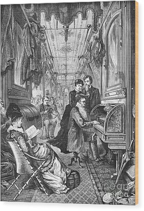 Railroad: Interior, 1876 Wood Print by Granger