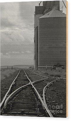 Railroad Tracks Hite Washington Wood Print by Larry Lawhead