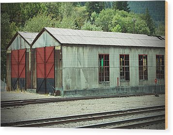 Railroad Woodshed 2 Wood Print by Holly Blunkall