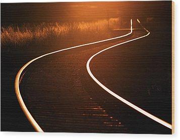 Railroads Wood Print by Thomas Splietker