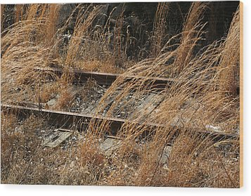 Rails Retired Wood Print