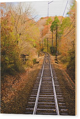 Railway Track Wood Print by (c) Eunkyung Katrien Park
