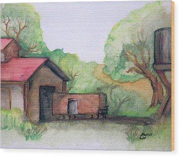 Railyard Wood Print by Timothy Hawkins
