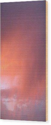 Rain At Sunset Wood Print by Alissa Beth Fox