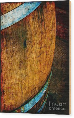 Rain Barrel Wood Print by Judi Bagwell