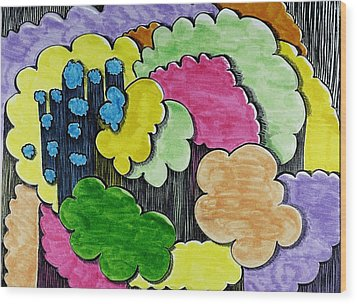 Rain Clouds Wood Print by Lesa Weller