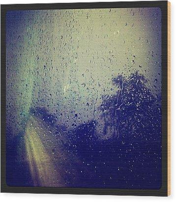 Rain Drops Wood Print by Sumit Jain
