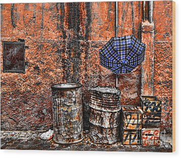 Rain In Marrakesh Wood Print by Chuck Kuhn