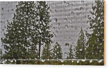 Rain On My Windowpane Wood Print by Kirsten Giving