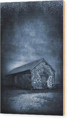 Rain Wood Print by Svetlana Sewell