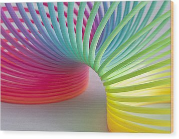 Rainbow 1 Wood Print by Steve Purnell