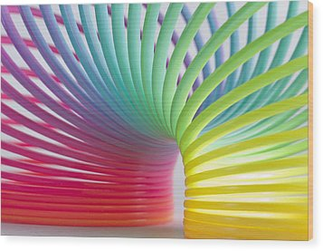 Rainbow 5 Wood Print by Steve Purnell