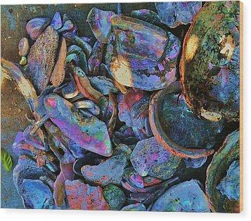 Rainbow Beach Wood Print by Helen Carson