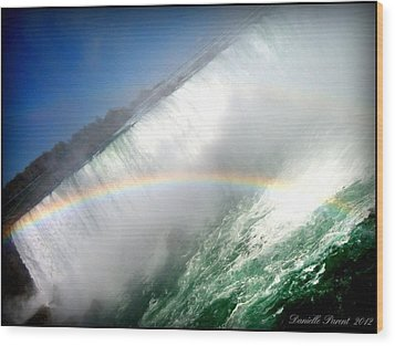 Wood Print featuring the photograph Rainbow For The Maid Of The Mist by Danielle  Parent
