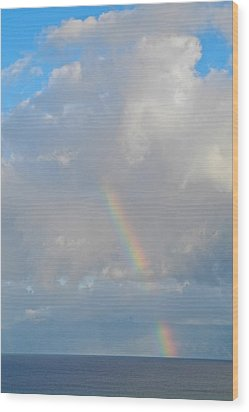 Rainbow From Molokai Wood Print by Kirsten Giving