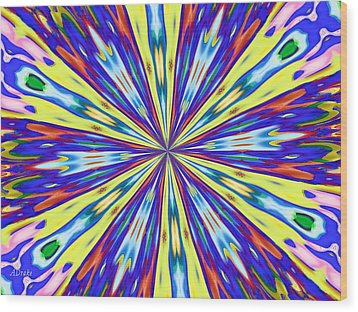 Rainbow In Space Wood Print by Alec Drake