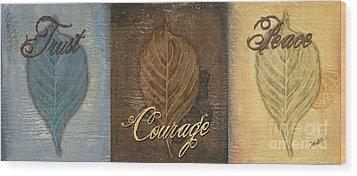 Rainbow Leaves 2 Wood Print by Debbie DeWitt