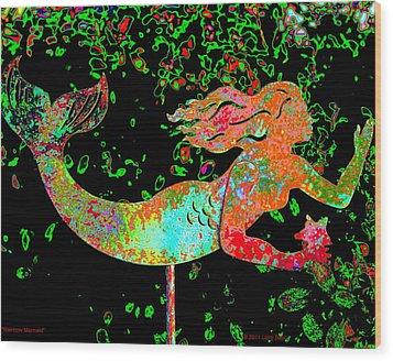 Rainbow Mermaid Wood Print