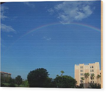 Wood Print featuring the photograph Rainbow Morning by Sheila Silverstein