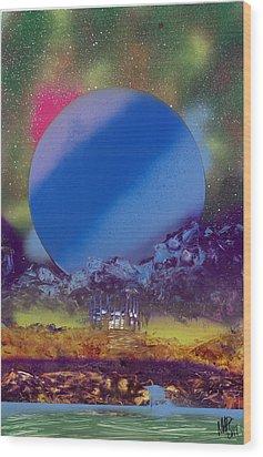 Rainbow Nova Wood Print by Marc Chambers