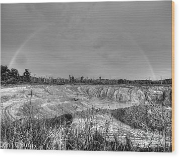 Wood Print featuring the photograph Rainbow Pit by John Burns