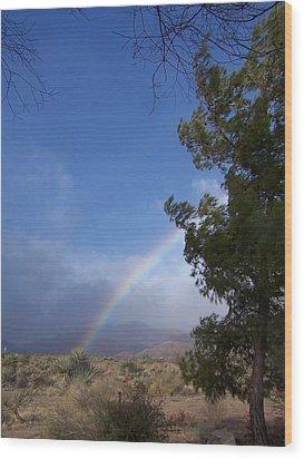 Rainbow Sky Wood Print
