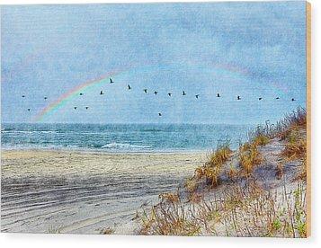 Rainbows And Wings II Wood Print by Dan Carmichael