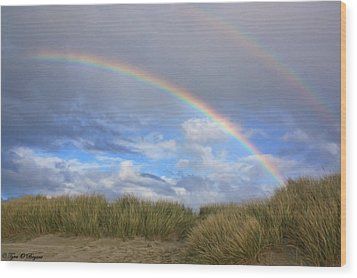 Wood Print featuring the photograph Rainbows Over The Sand by Tyra  OBryant